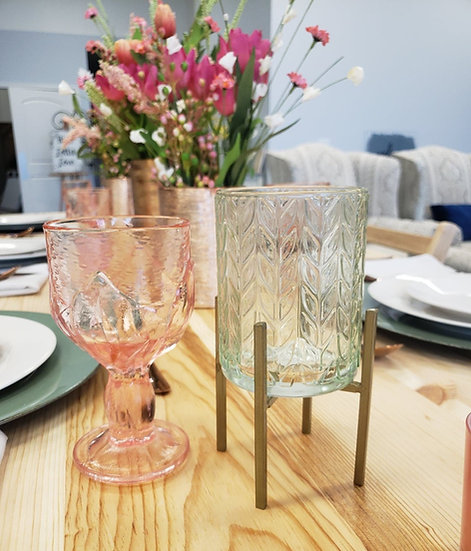 Vintage Glass Votive Candle Holders