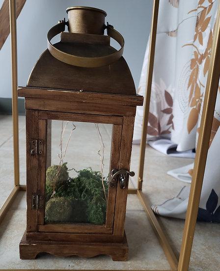 Metal and Wood Lanterns