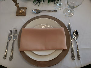 champagne charger plate camel napkin.jpg