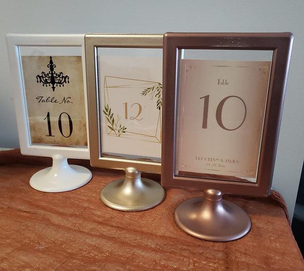 Table Number Frames