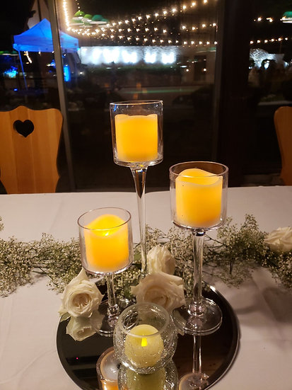 Tall Stemmed Pillar Candle Holders