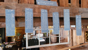 Rustic-Elegance in Dusty Blue, White and Silver at Jordan Valley Barn, Charlevoix