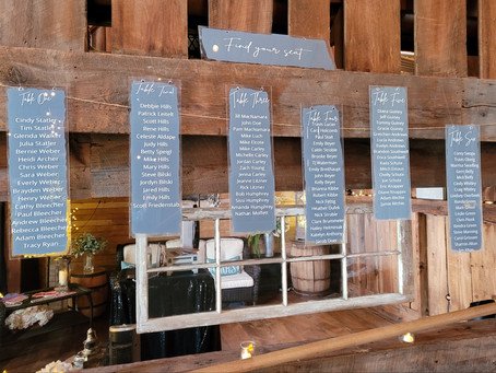 A Rustic-Elegant Wedding in Dusty Blue, White and Silver at Jordan Valley Barn, Charlevoix