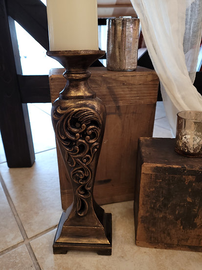 Vintage Pillar Candle Holders