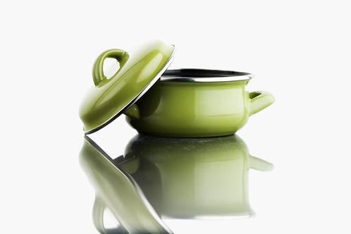 Suppentopf Emaile grün