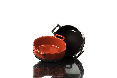 Keramiktopf ca 240ml rot-schwarz