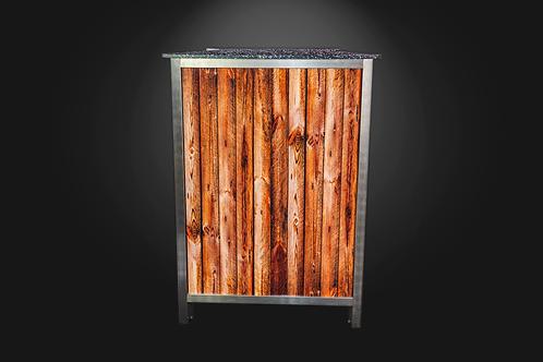 Holzdekor für Eckelement