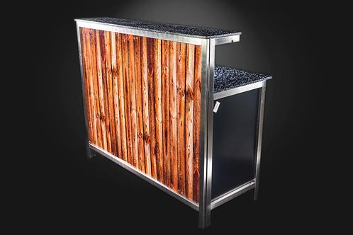 Holzdekor für Barelement