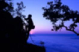 silhouette  young men cliffhanger were c