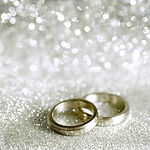 Beautiful silver background with wedding