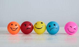 Emotions balls background, Happy Smiley