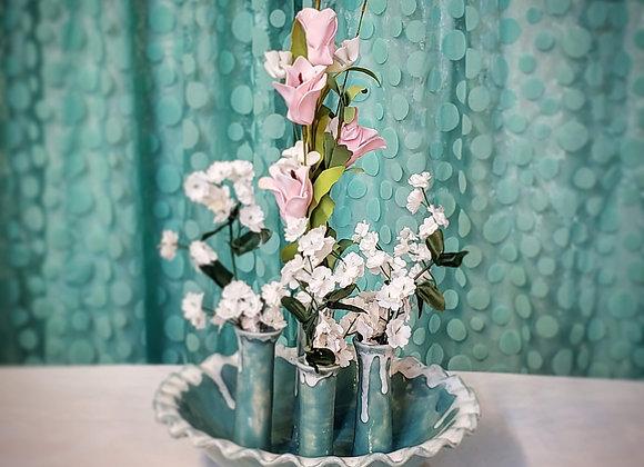 Ikabana Flower Vase in Green