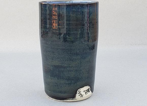 Tumbler, Porcelain, floating blue.
