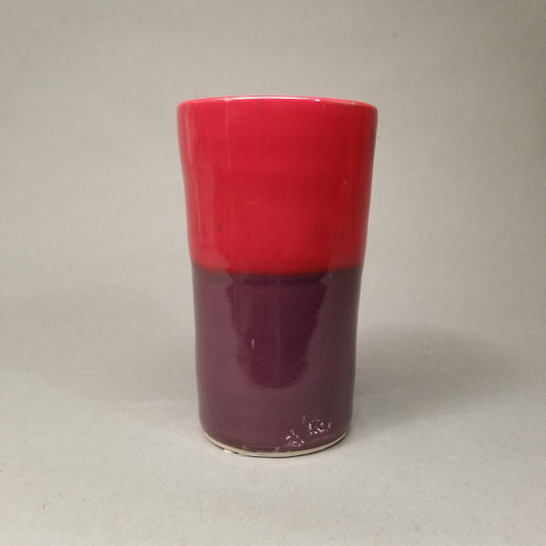 Red and purple tumbler