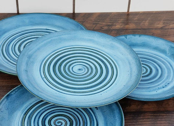 Turquoise Plate Set (of 4)
