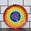 Thumbnail: Rainbow Plate with White Splatter