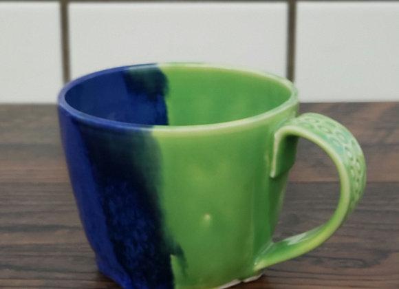 Blue and Green Mug 20 oz