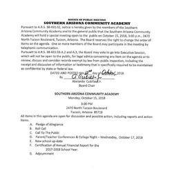Meeting Date: October 15, 2018