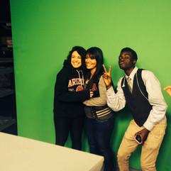 SACA Students on KVOA NBC 4's Green Screen for Weather!