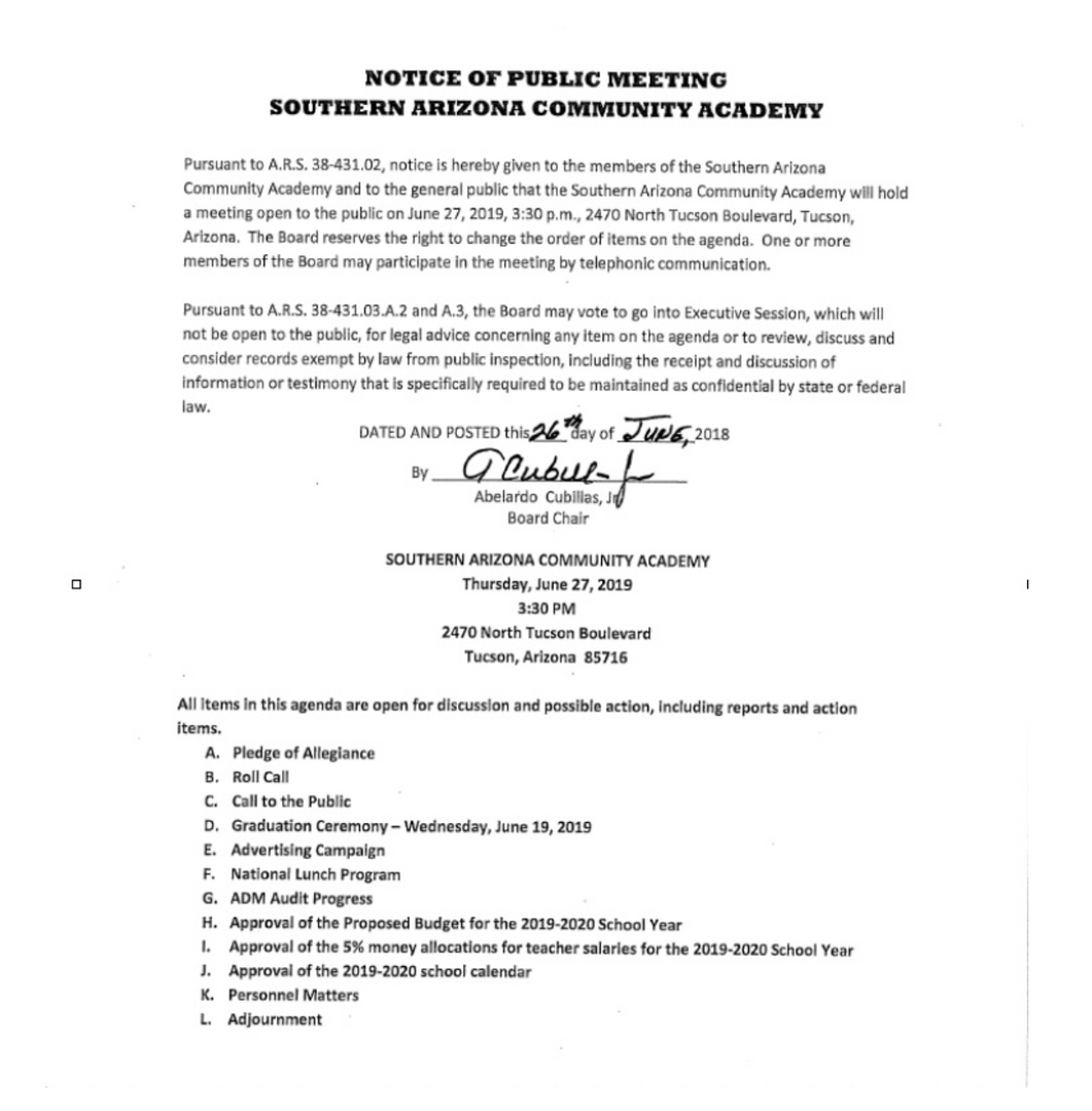 Meeting Date: June 27, 2019
