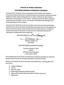 Meeting Date: February 12, 2021