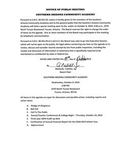 Meeting Date: October 09, 2019