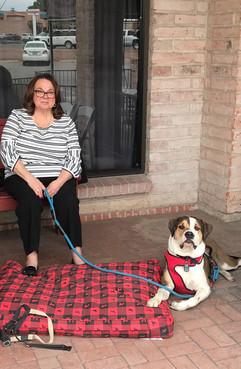 Mrs. Cubillas and her granddog, Hudson!