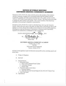 Meeting Date: July 11, 2016