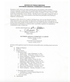 Meeting Date: October 12, 2014