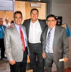 Coach Andy Lopez, NBC's Paul Cicala and SACA Director Lalo Cubillas at a recent Graduation!
