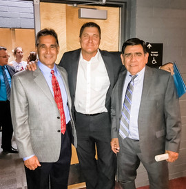 Coach Andy Lopez, NBC's Paul Cicala and SACA Director Lalo Cubillas at a recent Graduation!