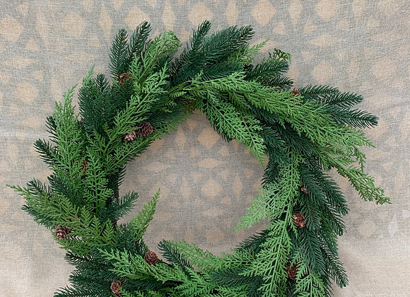Wreath with Pinecones