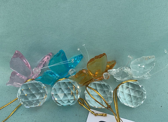 Crystal Butterfly Ornament