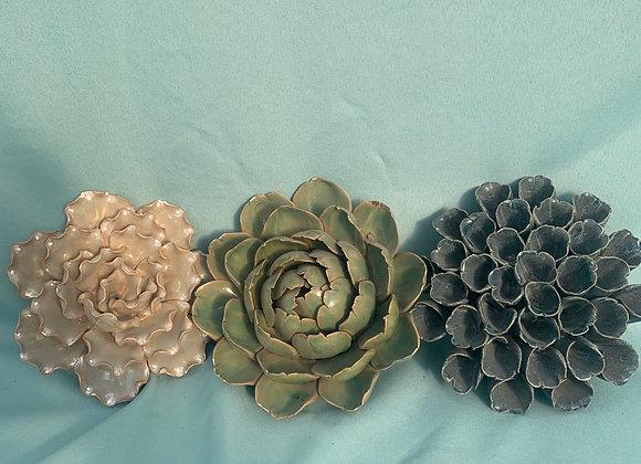 Ceramic Flower Wall Hanging