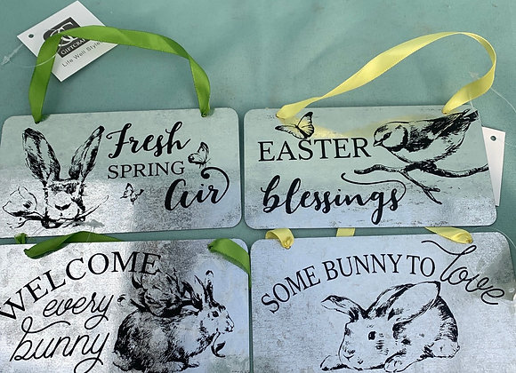 Metal Easter Sign