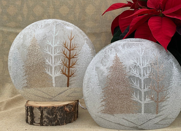 Lighted Vase - Sparkly Trees