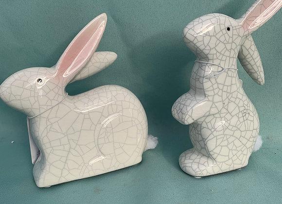 Cracked Ceramic Bunny