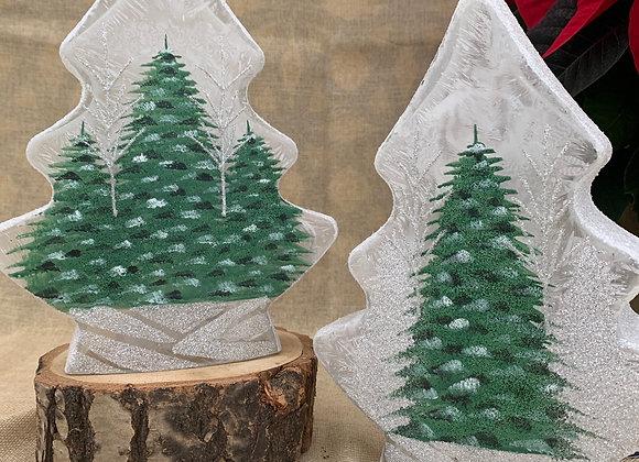 Lighted Tree Vase - Sparkly Christmas Tree