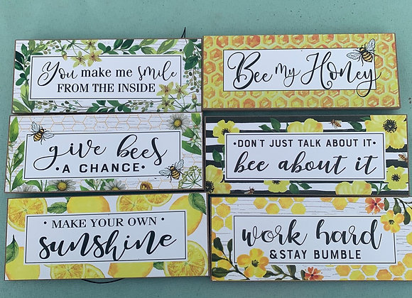 Bee Themed Signs