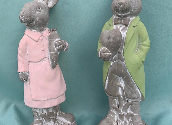 Dressed Bunny Statue