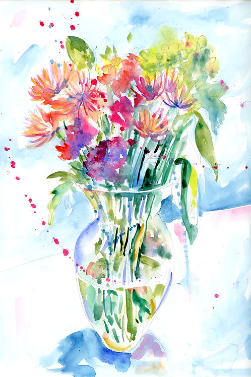 Vase of Flowers - Print and Card Bundle