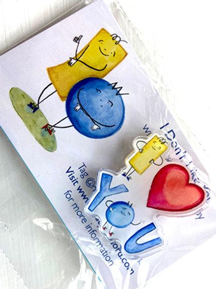 I Heart You Pin