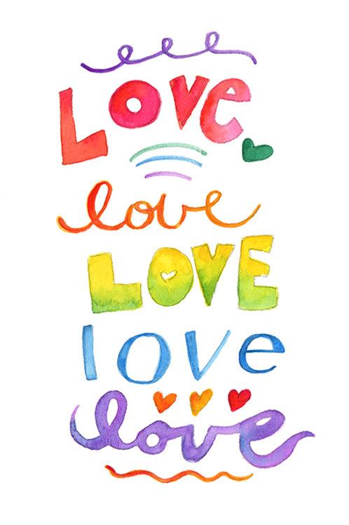 Love Postcard Download