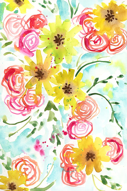 Yellow Flower Watercolor