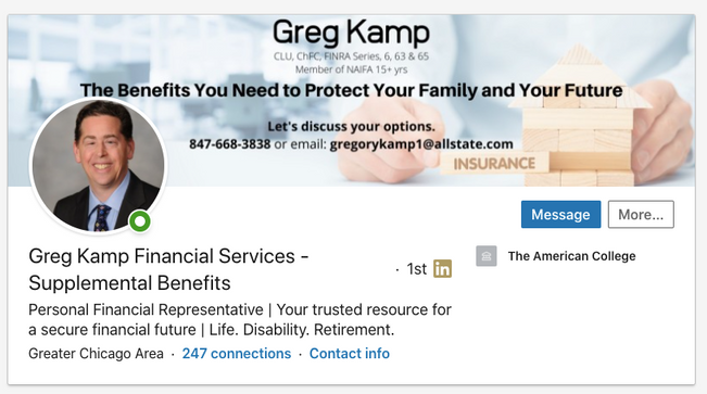 Greg Kamp, Financial Services