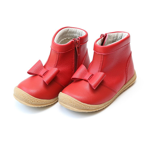 L'amour Hilary Bow Boot Red