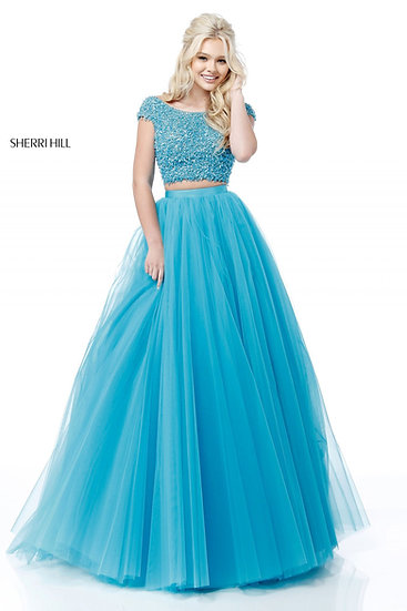 Sherri Hill 51594 Turquoise