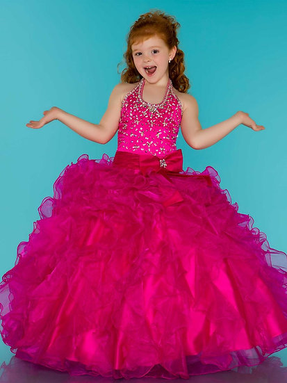 Mac Duggal 81281S Hot Pink