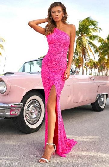 Sherri Hill 54330 Neon Pink
