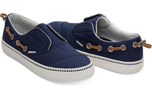 TOMS Pasadena Navy Canvas